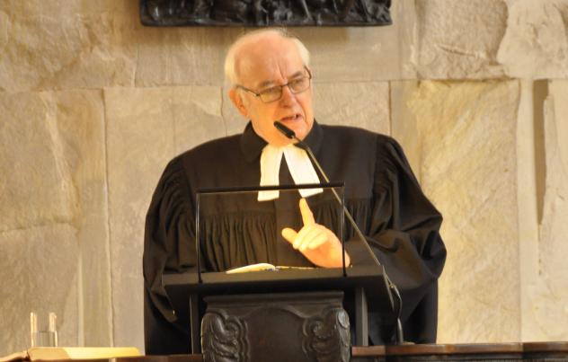 Landesbischof Volker Kreß Gedenken an Landesbischof Johannes Hempel Kreuzkirche