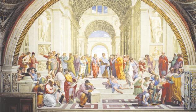 Fresko »Die Schule von Athen«