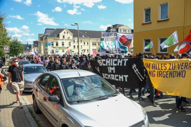 Zwönitz, Rechte, Neonazis, Erzgebirge, Marco Wanderwitz, Anti-Corona-Proteste