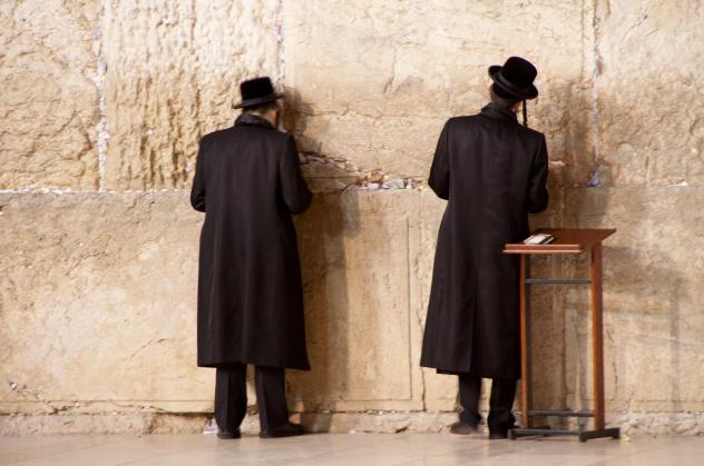 Gebet an der Klagemauer/Jerusalem