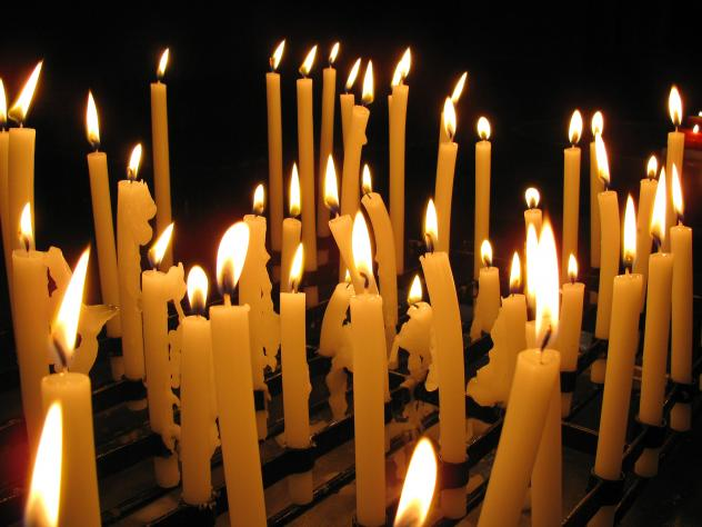 Friedensgebet Chemnitz Kerzen