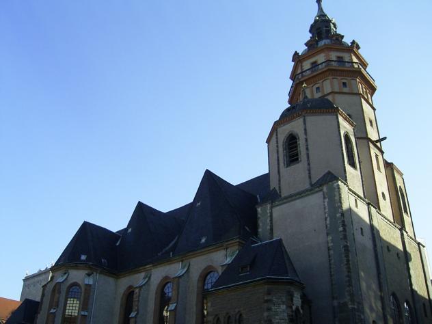 Leipziger Nikolaikirche, Einheitsdenkmal, Herbst 89