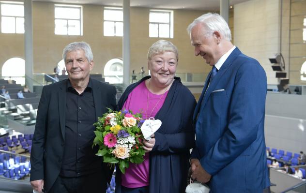 Roland Jahn, Evelyn Zupke, Dieter Dombrowski