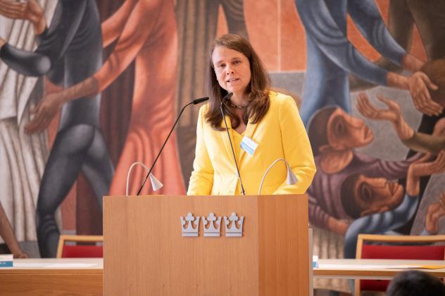 Landessynode, Haus der Kirche, Bettina Westfeld, Synodalpräsidentin