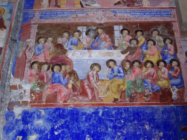 Wandbemalung Kirche im Männerkloster in Suzdal