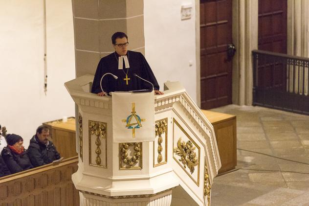 Dietrich Brauer bei einem Besuch im Bautzner Dom