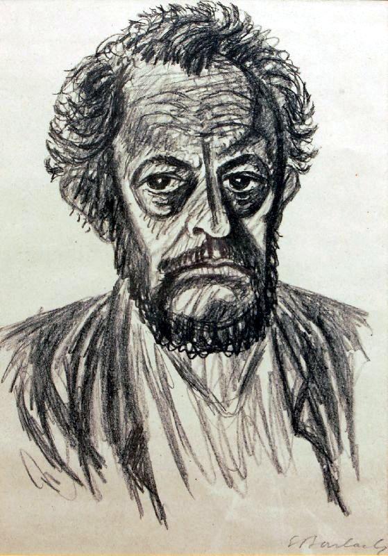 Ernst Barlach: Selbstporträt, 1928