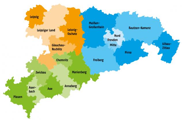 Kirchenbezirke der Landeskirche