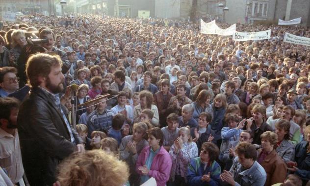 Montagsdemo Plauen 1989