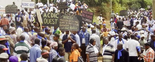 Demo in Kamerun gegen billige EU-Importe © Brot für die Welt