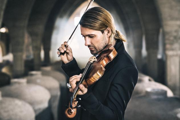 David Garrett spielt beim Stadionkonzert des Dresdner