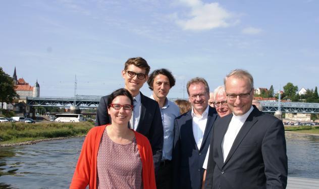 v.l.n.r.: Claudia Kunde, Thomas Arnold, Dr. André Thieme, Johannes Bilz, Prof. Dr. Christoph Böttigheimer und Dr. Carsten Rentzing