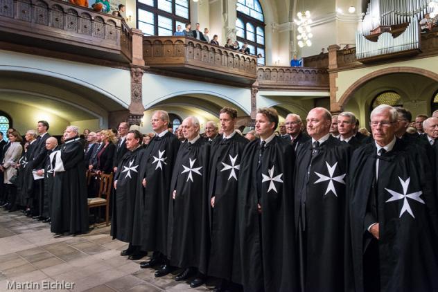 Vertreter des Johanniterordens beim Festgottesdienst zum Rittertag 2017 in Radebeul. Foto: Eichler