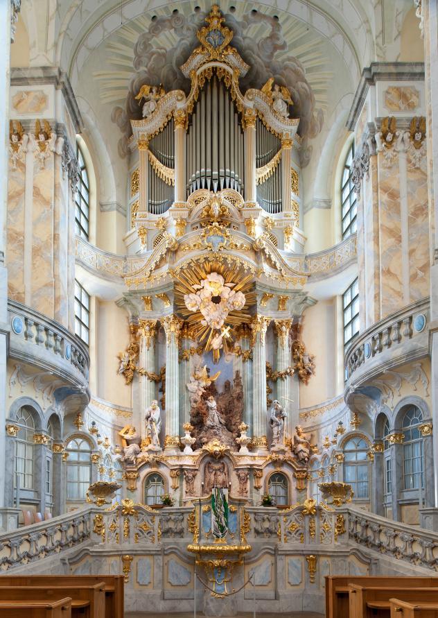 Altarraum der Frauenkirche Dresden