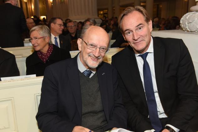 Der polnische Autor und Journalist Adam Krzeminski (l.) mit OBM Burkhard Jung