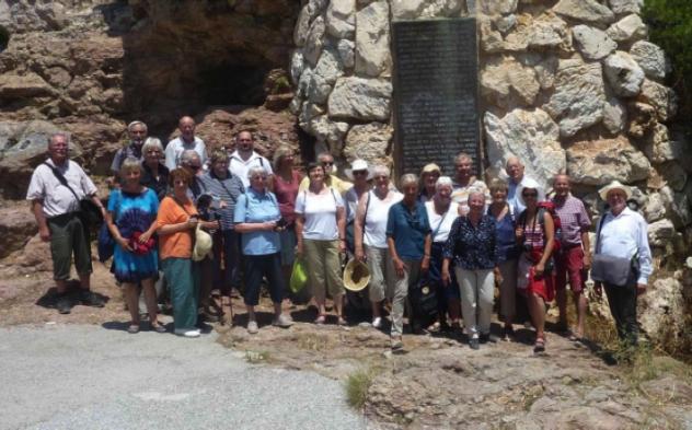 Leserreise-Gruppe des SONNTAG in Griechenland. Foto: privat
