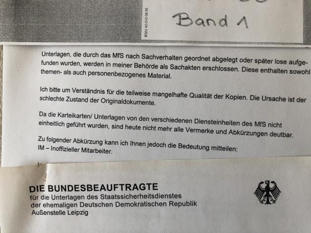 Stasi, Stasiakte, Roland Jahn, Stasiunterlagen, BStU, DDR