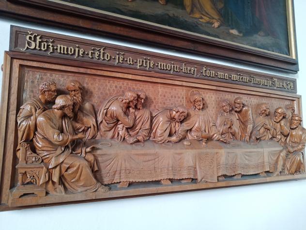 Sorbisches Abendmahl-Relief in der Kirche Göda