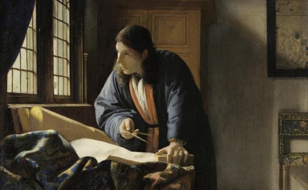 Vermeer: Der Geograf, 1669, Städel Museum Frankfurt a. M.