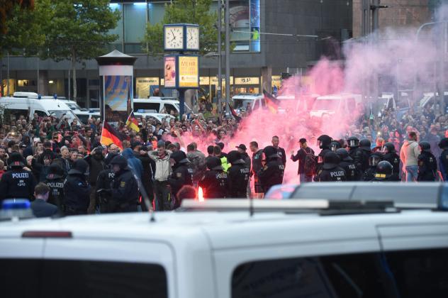 Montag in Chemnitz, Brückenstrasse