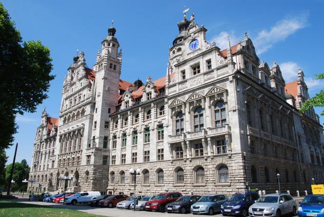 Neues Rathaus Leipzig Pleißenburg Disputation