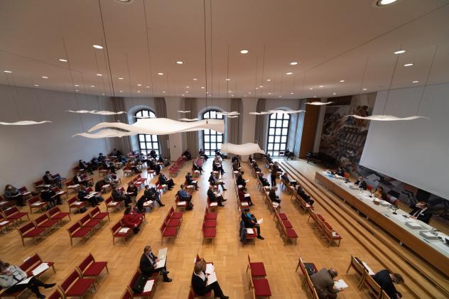 Landessynode, Haus der Kirche, Corona, Präsenztagung