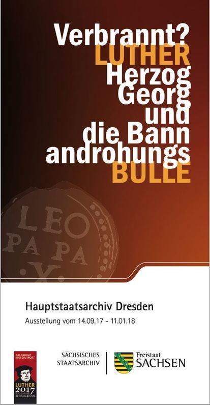 Flyer Hauptstaatsarchiv Luther