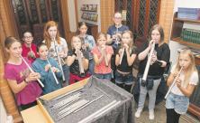 Riesa, Orgel, Orgelpfeifen, Gymnasium Rudolf Stempel,