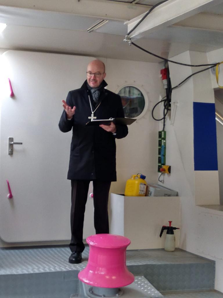 Landesbischof Tobias Bilz, Flüchtlinge, Mission lifeline, Taufe, Schiff,