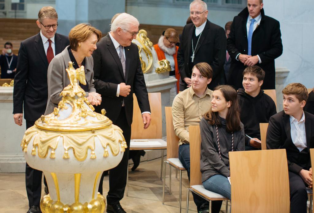 Frauenkirchenpfarrer Sebastian Feydt Bundespräsident © Stiftung Frauenkirche/Oliver Killig