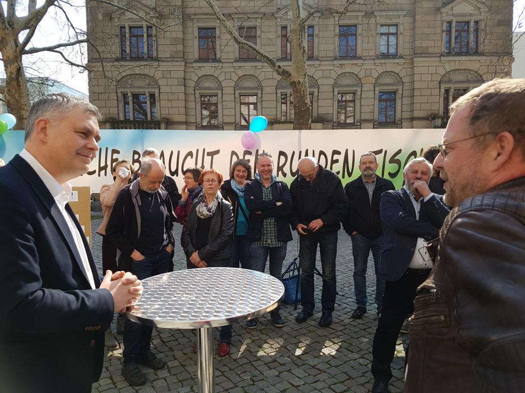 Demonstration gegen Strukturreform