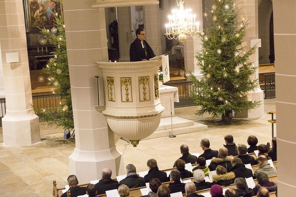 Die Predigt hielt Dietrich Brauer, Erzbischof aus Moskau