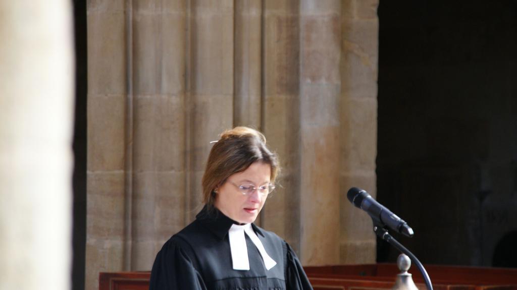 Oberlandeskirchenrätin Margrit Klatte während der Amtseinführung