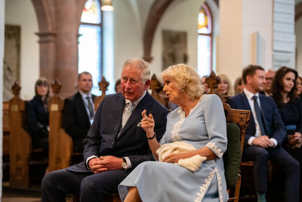 Prinz Charles und seine Gattin, Herzogin Camilla, in der Thomaskirche Leipzig