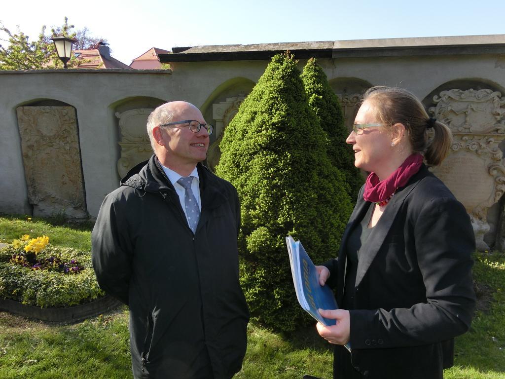 Landeskirchenmusikdirektor Markus Leidenberger freut sich auf die Zusammenarbeit mit Maria Döhler.