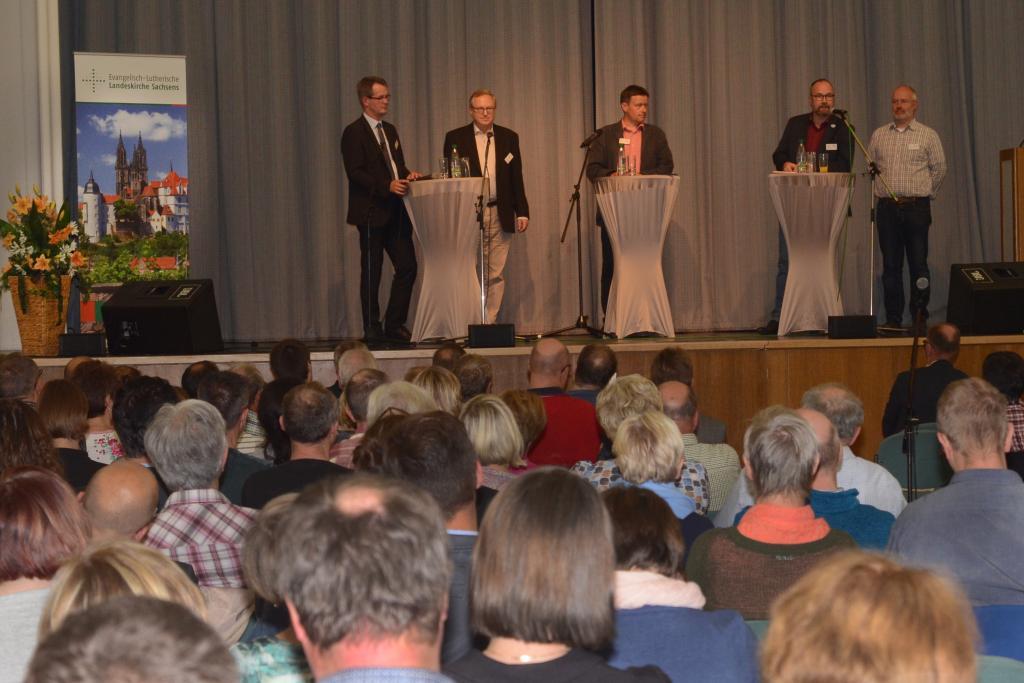 Veranstaltung am Montagabend in Rodewisch © Ellen Liebner