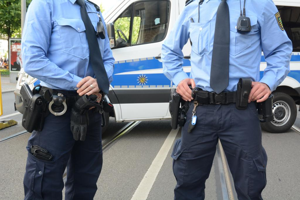 Gut gesichert dank vieler Polizisten