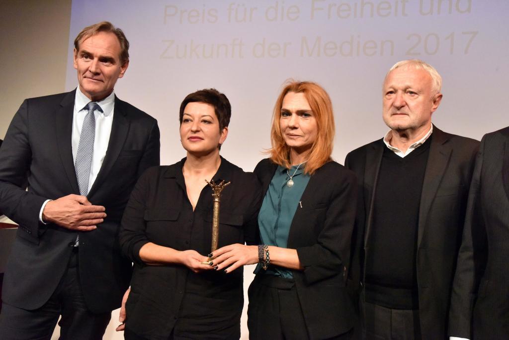Preisträger mit OBM Jung (l.) und Schulz (r.) © Armin Kühne