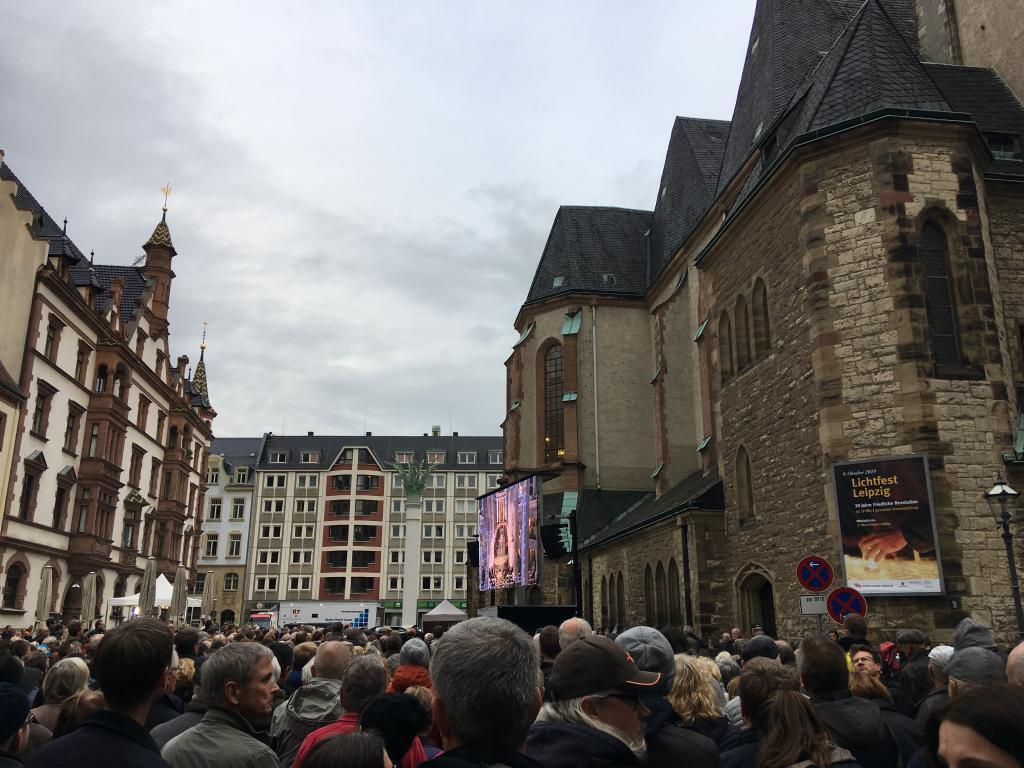 Friedensgebet Nikolaikirche Leinwand