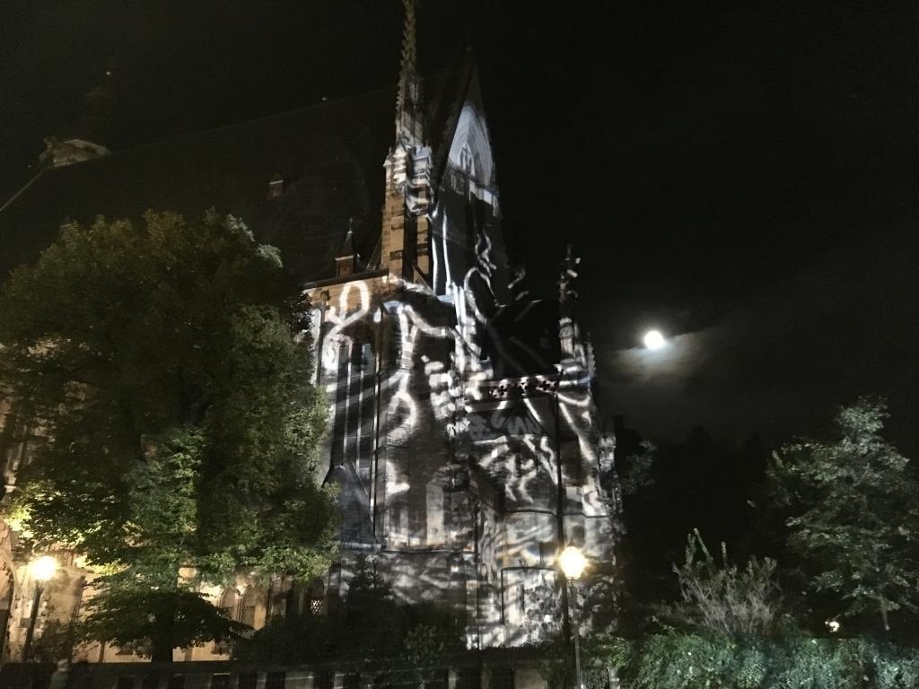 Angestrahlte Thomaskirche