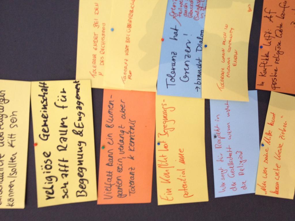 Anregungen und Gedanken von Teilnehmern