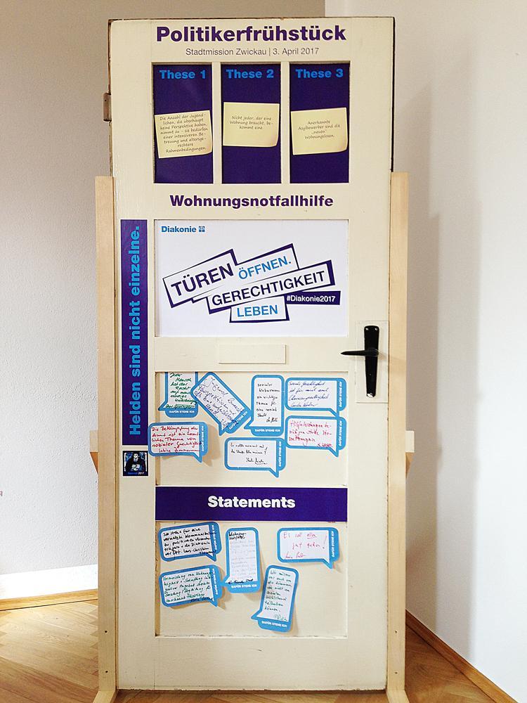 Die Tür mit neuen Thesen zur Wohnungnot