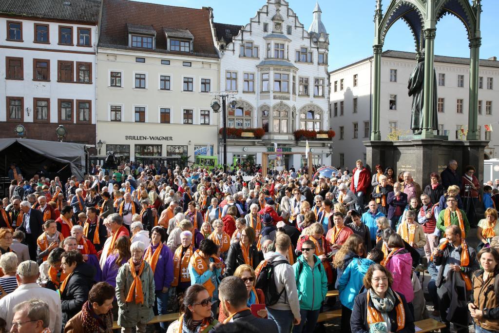 Abschluss-Gottesdienst in Wittenberg © r2017/Cornelia Kirsch