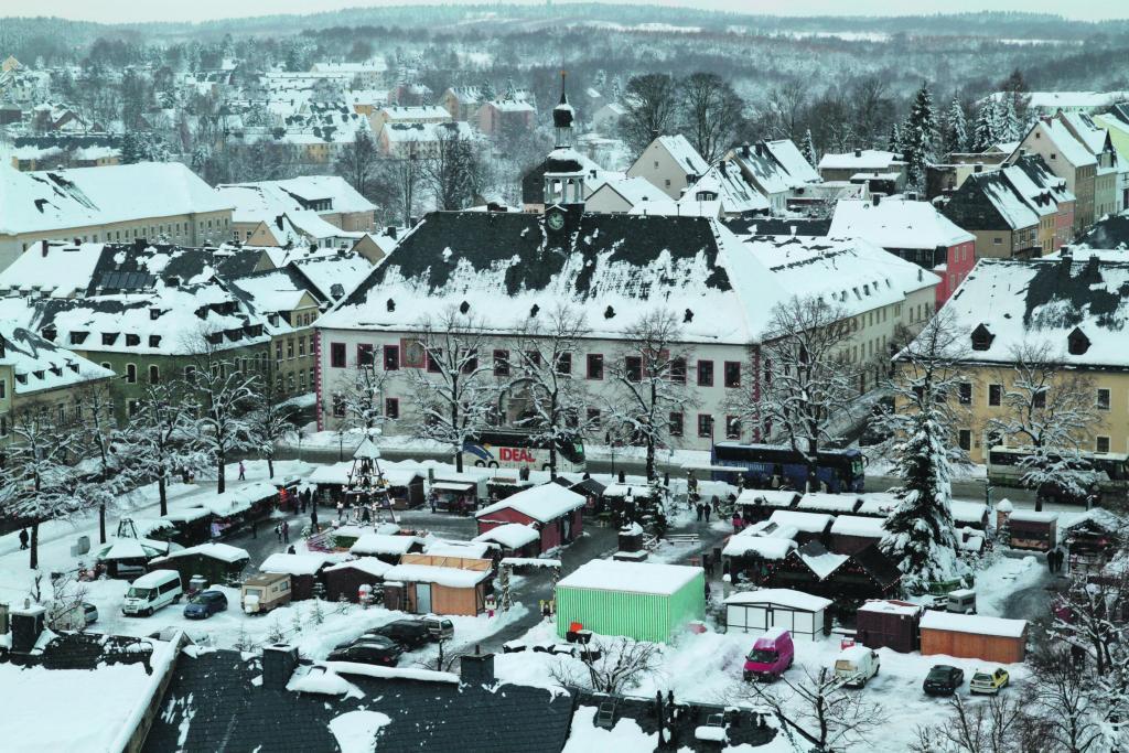 Marienberg, Marktplatz, Weihnachtsmarkt, Tradition, Erzgebirge