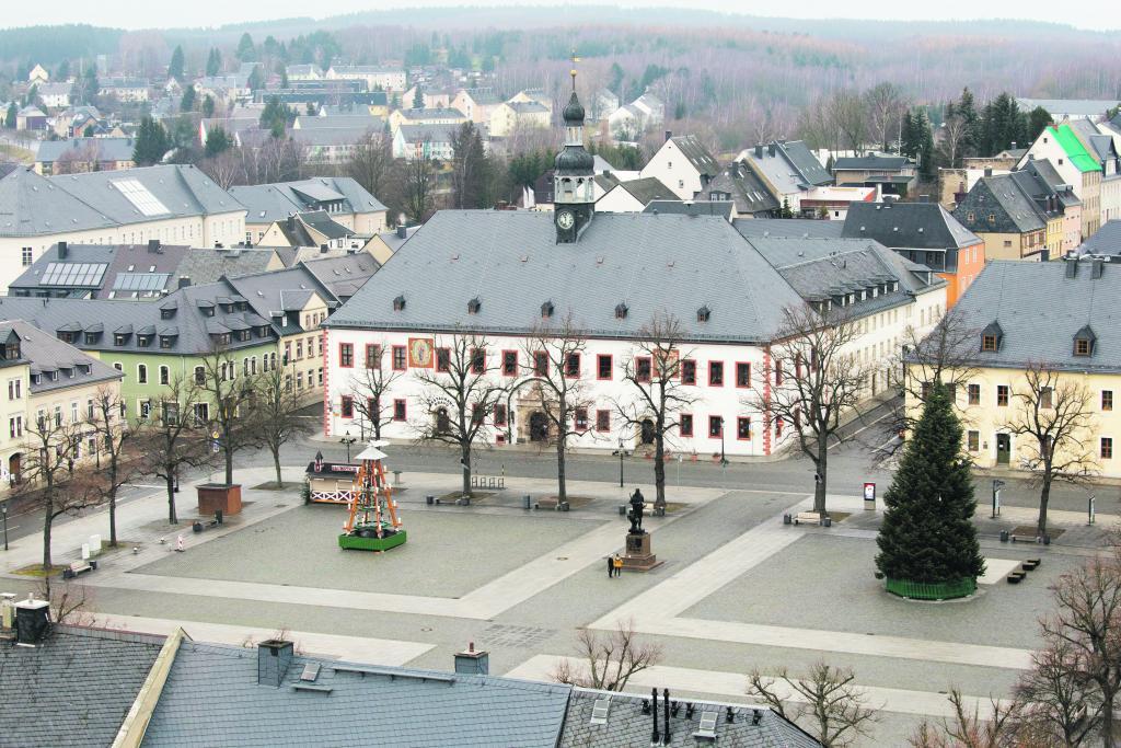 Marienberg, Marktplatz, Leere, Corona, kein Weihnachtsmarkt