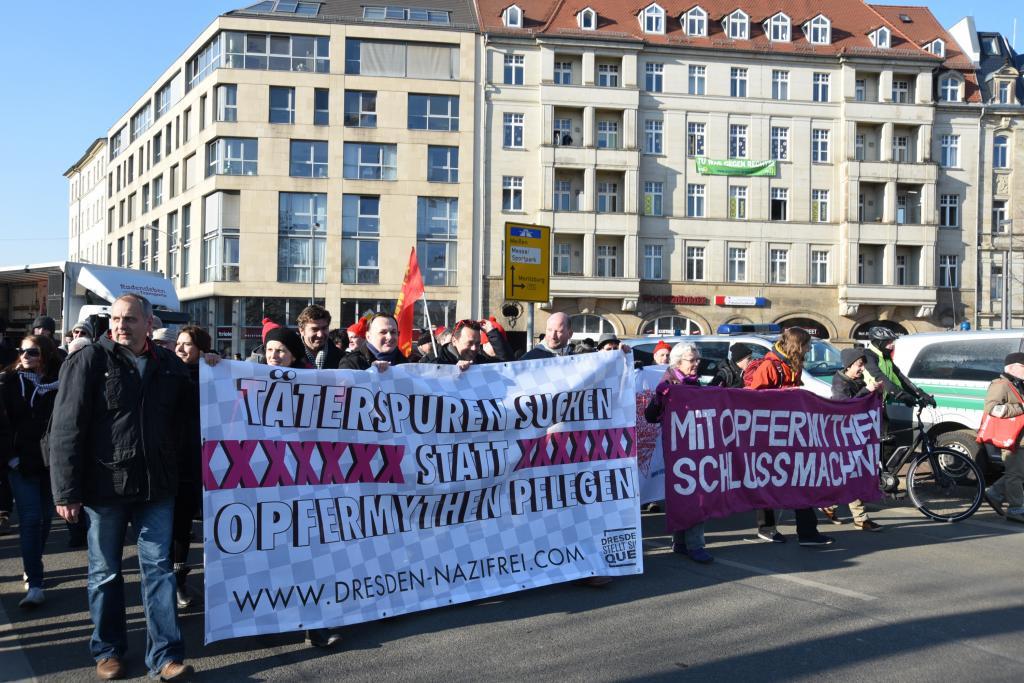 Mahngang Täterspuren, konzipiert von Studenten der Evangelischen Hochschule Dresden