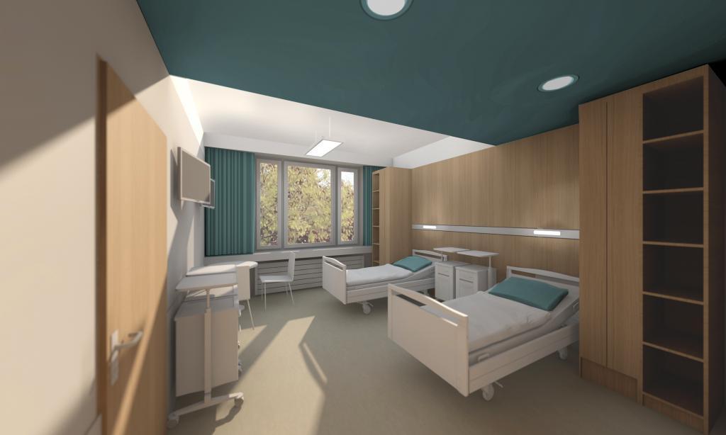 Visualisierung eines Krankenzimmers