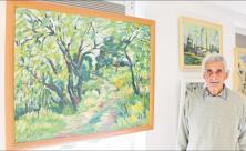 Ausstellung, Landschaftsbild, Falk Naumann, Künstler, Fredo Bley