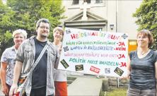 Heidenau, Kirche, Plakat, Flüchtlingshilfe, Versöhnung