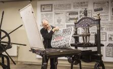 historische Druckerpresse